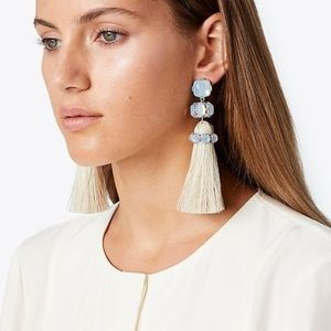 Tory Burch clip-on tassel earrings